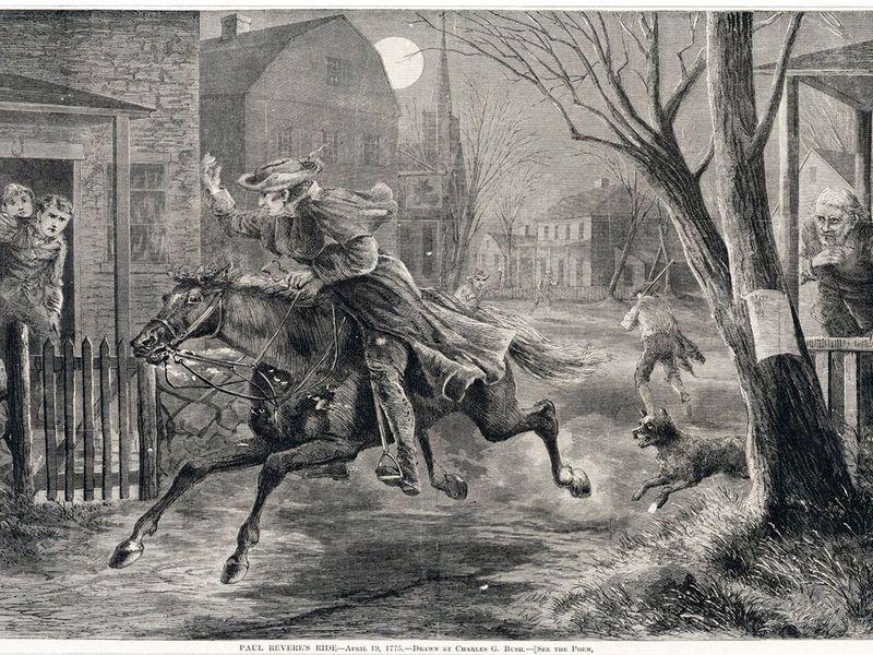 paul revere on horse