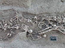 a mass grave in france