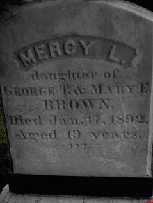 mercy brown gravestone
