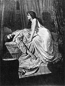 The Vampire, by Philip Burne-Jones, 1897. Vampire on top of man sleeping